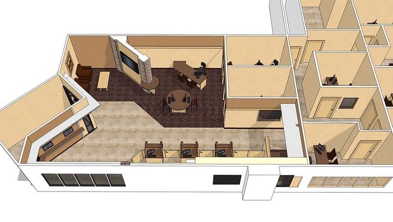 Plan 3D réalisé par un architecte d'intérieur