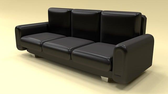 Canapé cuir noir