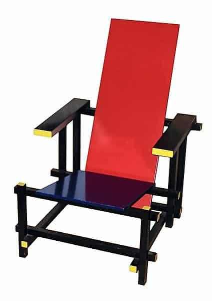 Chaise Mondrian de Gerrit Rietveld