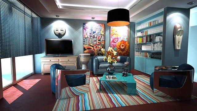 Une pièce conçue avec goût par un décorateur d'intérieur