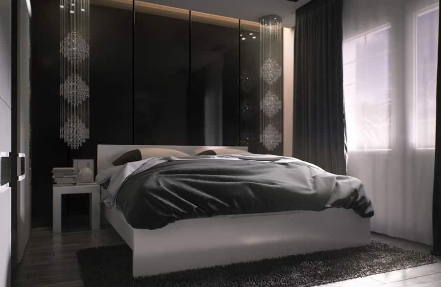 Rendu 3D d'une décoration d'intérieur