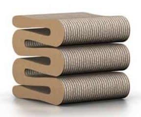 Tabouret Wiggle Stool de Frank Gehry