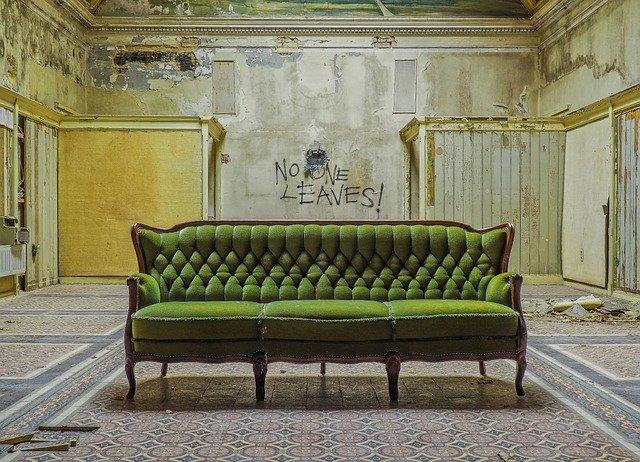 Canapé classique vert