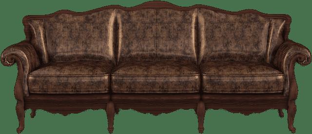 Canapé classique brun
