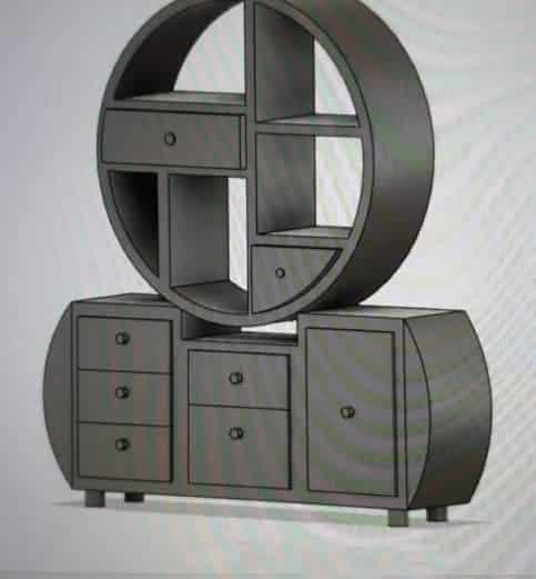 meuble de rangement - projet sous Fusion 360